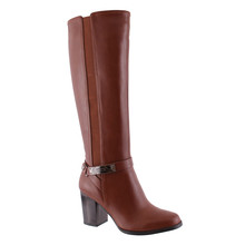 Susst Tan Knee High Heeled Boot