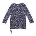 SophieB Grey & Navy Floral Blouse