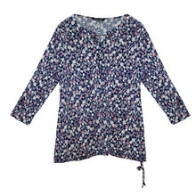 Twist Navy & Pale Pink Floral Blouse