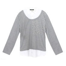 Twist Grey & Metallic 2 in 1 Knit Top