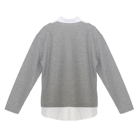 Twist Grey & Metallic 2 in 1 Knit Top
