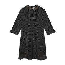Zapara Black Sequence Collar Dress