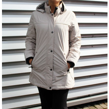 Gerry Weber Windproof Long Beige Winter Coat