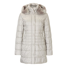Betty Barclay Padded Beige Long Winter Hooded Coat