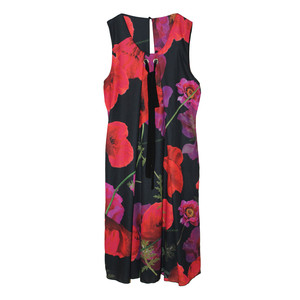 SophieB Red & Black Poppy Sleeveless Dress