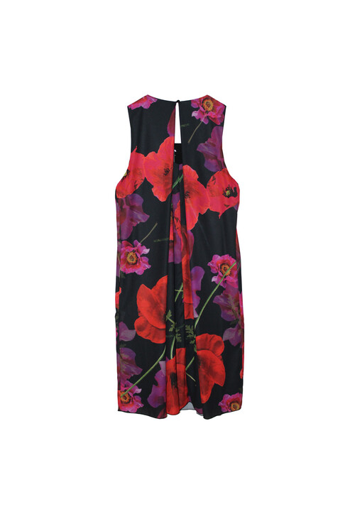 Sophie B Red & Black Poppy Sleeveless Dress