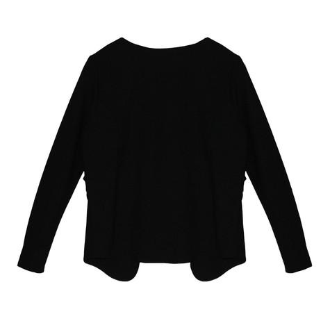 Zapara Black Short Crop Zip Detail Jacket
