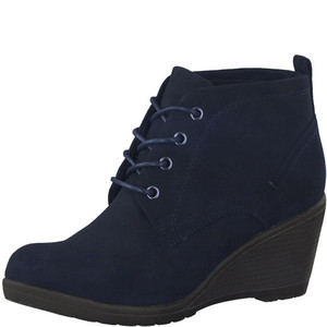 Marco Tozzi Navy Lace Up Ankle Boot