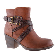 Susst Tan Block Heel Boot