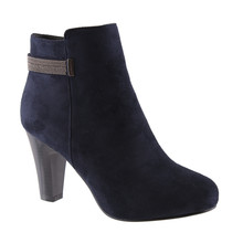 Susst Navy Microfibre Ankle Boot