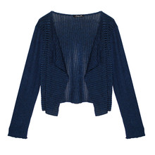 SophieB Navy Ribbed Bolero Jacket
