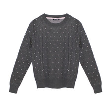 Twist Grey Pink Polka Dot Knit