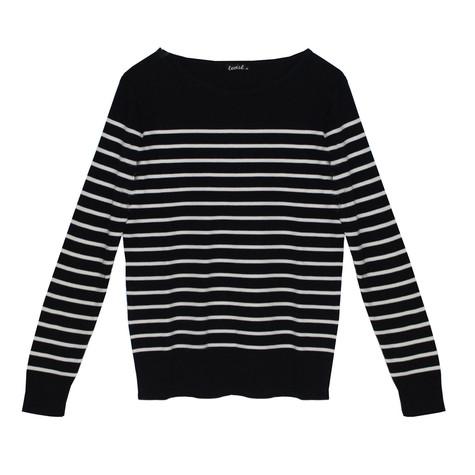 Twist Gautier Style Navy & White Strip Knit