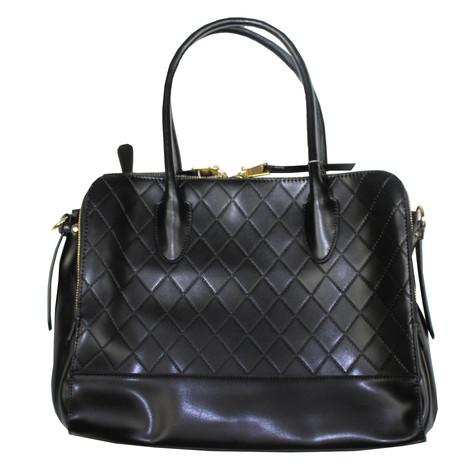 Mimosa Black Quilted Handbag | Pamela Scott : black quilted handbag - Adamdwight.com