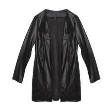 SophieB Black Soft Faux Long Jacket
