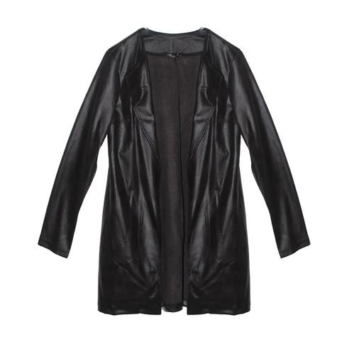 SophieB Black Soft Faux Long Jacket