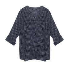 Twist Navy & Ecru Polka Dot Blouse