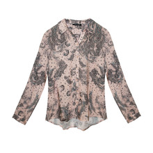 Twist Pale Pink Paisley Pattern Print Shirt
