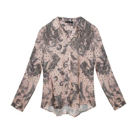 Twist Pale Pink Paisley Pattern Print Shirt