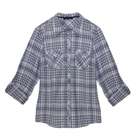 Twist Navy & Pink Check Shirt