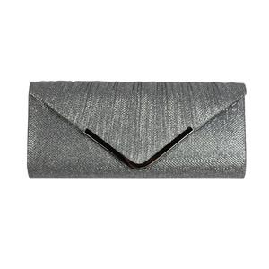 Milano Silver Glitter Clutch Bag