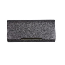 Milano Grey Glitter Clutch Bag