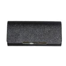 Milano Black Glitter Clutch Bag