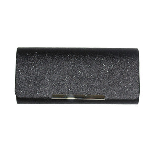 Milano Black Glitter Clutch Bag