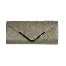 Milano Gold Glitter Clutch Bag