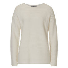 Betty Barclay Cream Ribbed Round Neck Knit