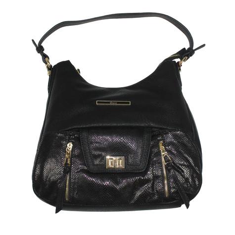 Gionni Black Gold Clip Handbag