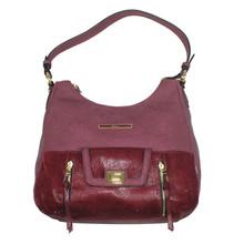 Gionni Burgundy Gold Clip Handbag