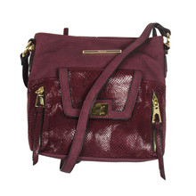 Gionni Burgundy Cross Body Handbag