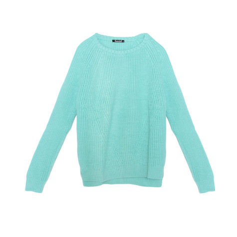 Twist Mint Comfy Round Neck Knit