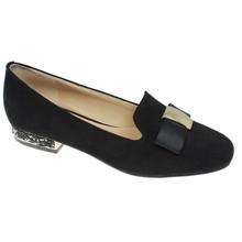 Lunar Black Rutter Diamante Heel Shoe