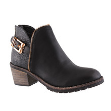 Susst Ronda Black Low Heel Ankle Boot