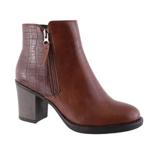 Susst Alex Brown Block Heel Boot