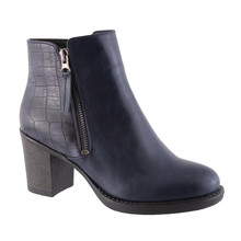 Susst Alex Black Block Heel Boot