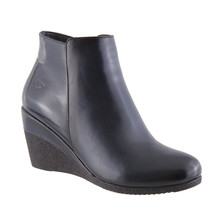 Susst Blake Navy Wedge Boots