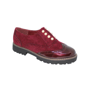 Tony & Co. RED PEARL DETAIL BROGUE - SALE €20