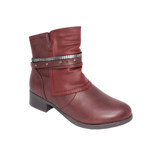 Tony & Co. BURGUNDY STUD DETAIL ANKLE BOOT -  SALE €30
