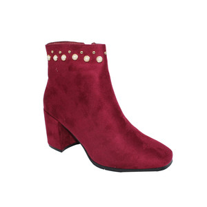 JM ABLOOM RED PEARL AND STUD DETAIL ANKLE BOOT - SALE €30
