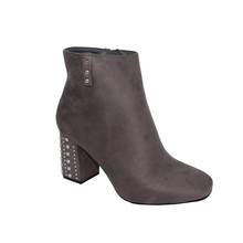 Sixth Sen GREY STUDDED HEEL HIGH ANKLE BOOT - SALE €30