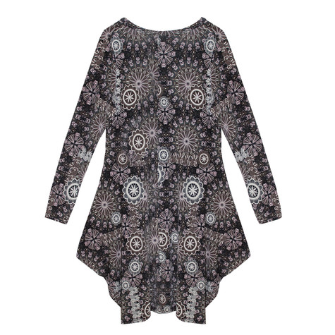 SophieB Taupe Abstract Pattern Print Dress
