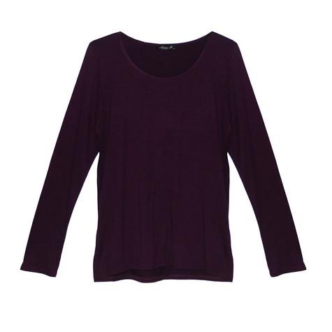 SophieB Purple Round Neck Long Sleeve Top