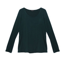 SophieB Emerald Round Neck Long Sleeve Top