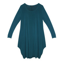 SophieB Teal Zamba Jersey Long Sleeve Dress