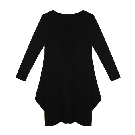 SophieB Black Round Neck Long Sleeve Dress