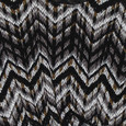 Zapara Black & Grey Zig Zag Top
