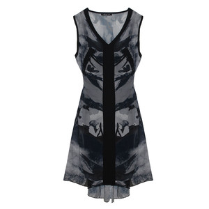 SophieB Black & Grey Sleeveless Dress